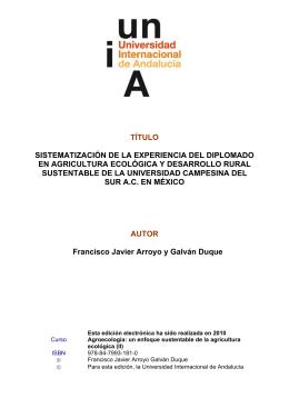 Universidad Campesina del Sur AC - Universidad Internacional de