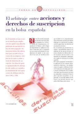 derechos de suscripcion - Bolsas y Mercados Españoles