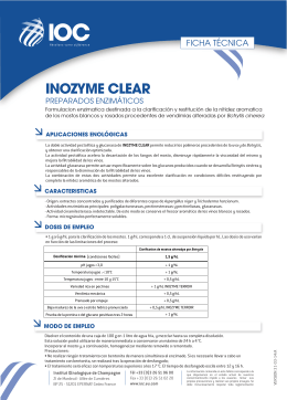 FT INOZYME CLEAR (ES) - Institut Oenologique de Champagne