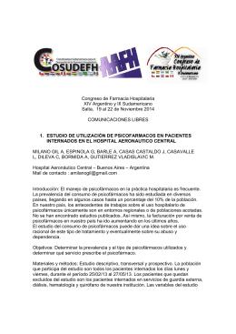 Archivo de Comunicaciones Libres Congreso Salta 2014