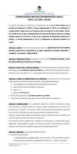 contrato de locacion de obra - Municipalidad de San Fernando del