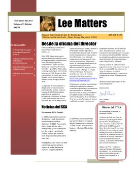 Lee Matters - Montgomery County Public Schools