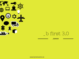 _b first 3.0 - folleto comercial