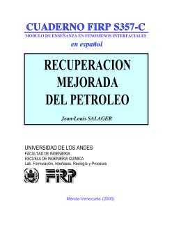 recuperacion mejorada del petroleo - Laboratorio FIRP