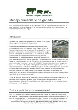 Manejo humanitario de ganado