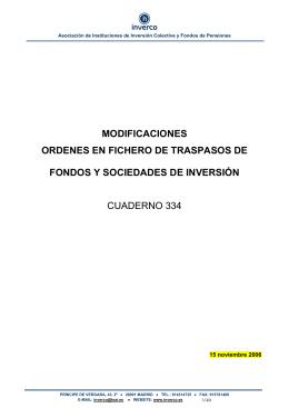 MODIFICACIONES ORDENES EN FICHERO DE