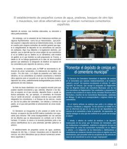 """""""Fomentar el depósito de cenizas en el cementerio municipal"""""""