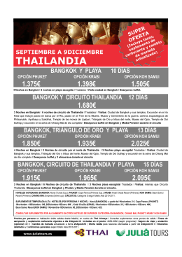 THAILANDIA - Julia Tours