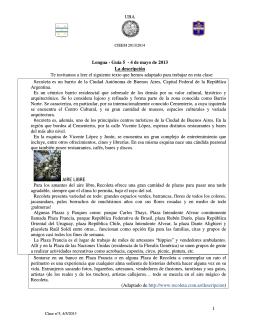 UBA 1 Lengua - Guía 5 - 4 de mayo de 2013 La descripción Te