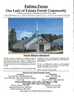 By September 2 - Our Lady of Fatima Parish