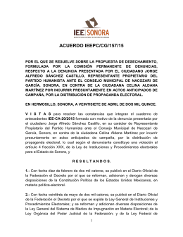 ACUERDO IEEPC/CG/157/15 - Consejo Estatal Electoral y de