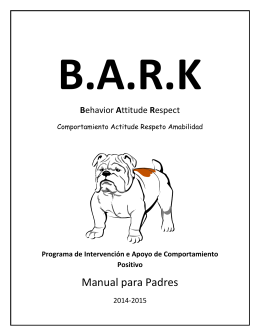 Manual para Padres - Yorkshire Elementary School