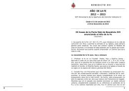 AÑO DE LA FE 2012 — 2013 - Diócesis de Río Gallegos