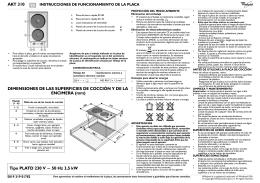 AKT 310 DIMENSIONES DE LAS SUPERFICIES DE COCCIÓN Y