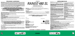 RANGO ®480 SL, herbicida no selectivo en base al ingrediente