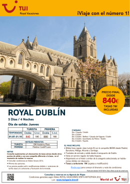 ROYAL DUBLÍN 840€
