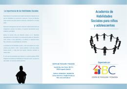 Academia de Habilidades Sociales para niños y adolescentes
