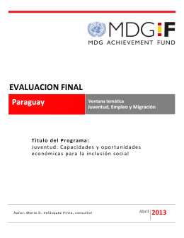 Paraguay - YEM - Final Evaluation Report