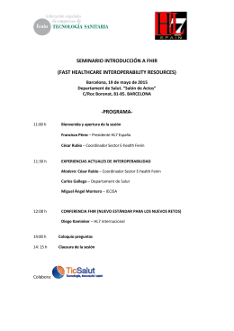 seminario introducción a fhir - Login