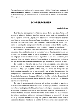 ECOPERFORMER - Cesar Martinez