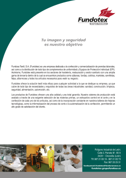 Folleto corporativo de Fundotex (Grupo Fundosa)