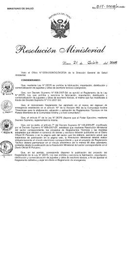 Proyecto del Reglamento de la Ley 28376 que prohibe y