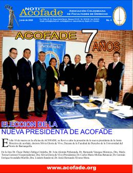 Boletín N°5 - ACOFADE Asociacion Colombiana de Facultades del