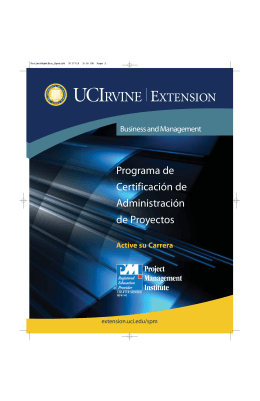 Programa de Certificación de Administración
