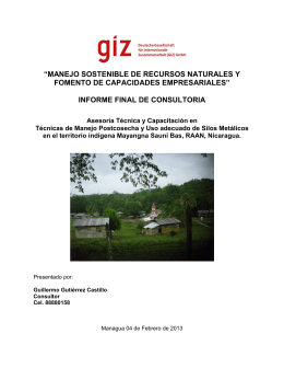 INFORME FINAL POSTCOSECHA GIZ FEB 2013