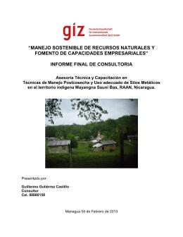 INFORME FINAL POSTCOSECHA GIZ FEB 2013