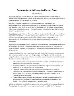 Documento de la Presentación del Curso