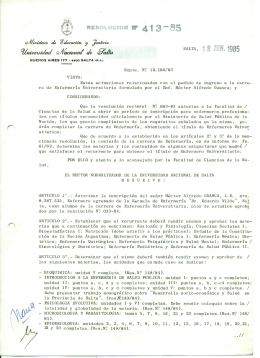 18 JUN. 1985 - Universidad Nacional de Salta