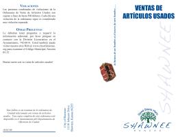VENTAS DE ARTÍCULOS USADOS