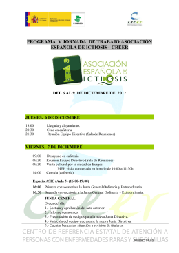 PP-ENC-01.02 Programa ASIC - Asociación Española de Ictiosis