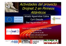 Actividades del proyecto Drojnet 2 en Pirineos Atlánticos