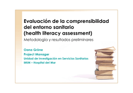 health literacy assessment