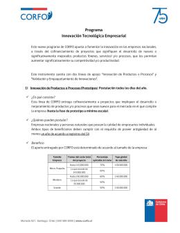 Folleto Programa de Innovación Tecnológica Empresarial