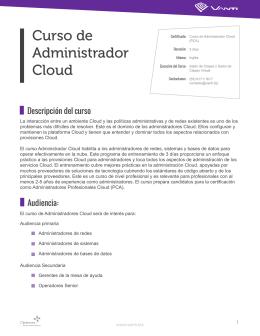 Curso de Administrador Cloud