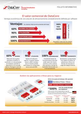 El valor comercial de DataCore