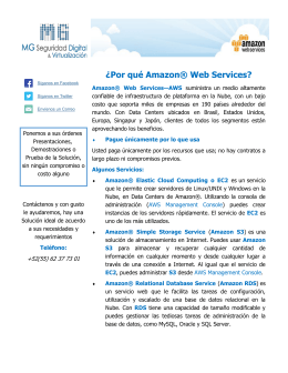 ¿Por qué Amazon® Web Services?