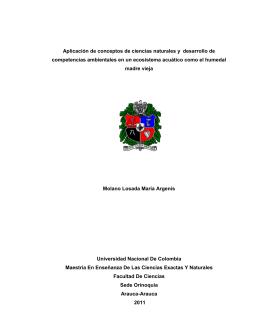 Aplicación de conceptos de ciencias naturales y desarrollo de