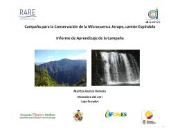 Campaña para la Conservación de la Microcuenca Jorupe
