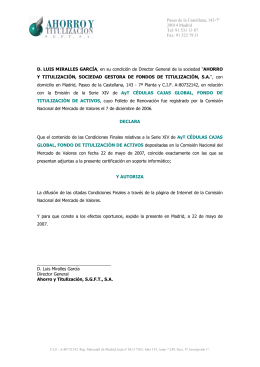 91 522 79 31 D. LUIS MIRALLES GARCÍA, en su
