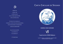 CARTA CIRCULAR DE VAISAKH