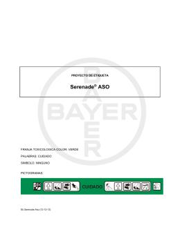Etiqueta Serenade® ASO - Bayer CropScience Chile