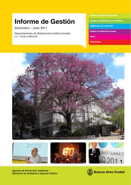 Informe de gestión diciembre 2010 - julio 2011.