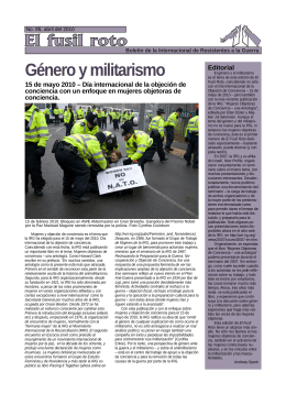 Género y militarismo - War Resisters` International