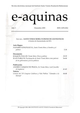Revista electrónica mensual del Instituto Santo Tomás - E