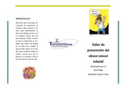 Taller de prevención del abuso sexual infantil