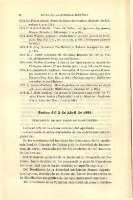 Sesión del 2 de Abril de 1884.